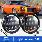 For Chevrolet Camaro LED Headlight 7'Inch Round Projector DRL Hi/Lo Beam H4-H13