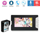 "7"" Wired Video Camera Door Phone Doorbell Intercom Kit Monitor Night Vision Home"