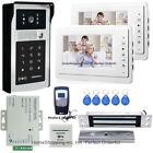 """7"""" Video Door Phone Intercom Doorbell+RFID Password Camera+Inset Magnetic Lock"""