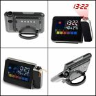 Alarm Clock Digital Weather LCD Snooze Color Display w/ LED Backlight Projection