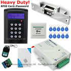 LCD RFID Card+Password Door Access Control System+Electric Drop Bolt Lock+Remote