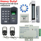ZKTeco Fingerprint+RFID Card+Password Access Control System+180KG Magnetic Lock