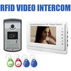 """7"""" VIDEO DOOR PHONE INTERCOM SYSTEM + RFID DOOR ACCESS CONTROL CAMERA UNIT TOP"""