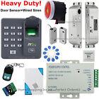 Fingerprint + RFID Card Door Access Control+ Door Sensor+ Siren+ Drop Bolt Lock