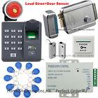 ZKTeco Fingerprint+ RFID Card Door Access Control System+Electric Rim Lock+Siren