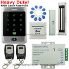 Waterproof RFID Card +Password Door Access Control System+Magnetic Lock+2Remotes