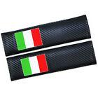 Car Carbon Fiber 3D Embroidery Seat Belt Safety Shoulder Pad Cover Italy Flag