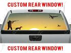 Ducks Hunting County Guns Dog Sunset Truck Pickup Perforated Window Decal Hunter