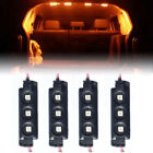 4X Yellow 12 LED Strip Lights Interior Decoration Rock Lights Pickup Truck Cargo