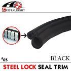 "120"" Black Rubber Seal Edge Trim Car Door Lock Window Bulb A Side Weatherstrip"