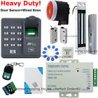 USA Fingerprint+RFID Card+Password Door Access Control System+Magnetic Lock+Bell