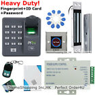 USA Fingerprint+RFID Card Door Access Control System+Magnetic Lock+Remote+Bell