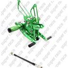 CNC Green Adjustable Rearsets FootPegs For Kawasaki Ninja ZX6R 2009-2013 2010