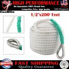 """Durable 1/2""""x200' Feet Three Strand Nylon Braided Boat Lines Twisted Anchor Rope"""