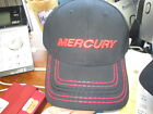 MERCURY OUTBOARD PLAIN BLACK & RED STITCHED LOGO HAT NEW FOR 2017