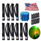 10PC 20Miles Green Laser Pointer Astronomy Single Point Lazer+Battery+Charger US