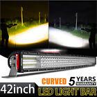 "10D 3600W 42"" Inch Curved LED Light Bar Flood Spot Offroad Truck SUV VS 52 12 22"