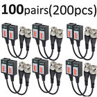 100 Pairs -HU45 CCTV Camera Passive Video Balun BNC Twisted Pair Connector Cable