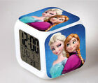 Frozen Princess 7 Color Changing LED Digital Alarm Clock Night Light for Girls