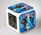 Disney Frozen 7 Color Changing LED Night Light Digital Alarm Clock for Girls