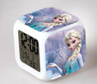 Frozen Princess Elsa 7 Color Changing LED Digital Alarm Clock Night Light Gift
