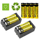 8pc 6000mAh 3.7V Li-ion 18650 High Quality Rechargeable Battery + 2x Charger USA