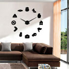 Silent DIY Wall Clock Trumpet Whistle Compass Tools Room Déco User-defined Clock