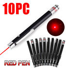 10packs 1mW 650nm Red Laser Pointer Pen Visible Beam Light AAA Lazer US STOCK
