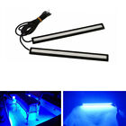1Pair Blue Waterproof 12V LED Strip Pod Panel Lights Car Driving Running Light