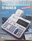 Texas Instruments TI-5045 II Desktop Printing Display Calculator Adding in Box