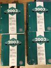 2003 CHEVROLET, GMC & CADILLAC SERVICE MANUAL SET (4 VOLUMES)