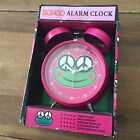 Bongo Alarm Desk Clock Pink Frog Bell Ringer - New in Box