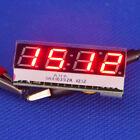 Red LED Displayer DC 12V digital multifunction clock voltmeter Temperature Meter