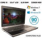 """Dell E6520, 15.6"""" Laptop, Core i5, HDMI, 320HD, 4/6/8Gb, Win 7/10 Pro, Warranty"""