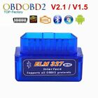 Super Mini Bluetooth ELM327 OBD2 V2.1 Diagnostic Tool OBDII Code Reader Scanner