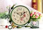 D15 Originality Iron Art Mute Living Room Bedroom Office Desk Clock Ornament O