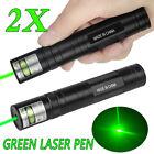 2 X 50Miles 532nm Green Laser Pointer 1MW Pen Visible Beam 16340 Lazer Pen
