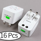 16Pcs -HU US to EU UK AU &Universal AC Power Plug World Travel Adapter Converter