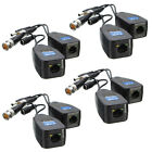 Lot of CCTV Coax BNC Video Power Balun Transceiver to CAT5e 6 RJ45 Connector