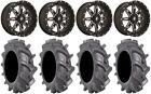 "Fuel Lethal Black 18"" Wheels 35"" BKT AT 171 Tires Polaris RZR 1000 XP"