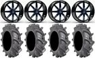 "Fuel Maverick Blue 20"" Wheels 35"" BKT AT 171 Tires Sportsman RZR Ranger"