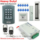 DIY RFID Card+Password Door Access Control System+Magnetic Lock+2Remote Controls