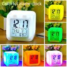 7 Colors LED Change Digital Glowing Alarm Clock Night Light For Kids Bedroom Hot