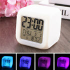 7 Colors Changing LED Digital Alarm Clock Multifunction Thermometer Night Light