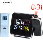 Projection Alarm Clock Projector LED Temperature Thermometer Humidity Hygrometer