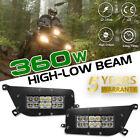 2X CREE 360W LED Headlight Kit High Low Beam For Polaris RZR XP 900/1000 ATV UTV