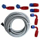 "Universal Fuel Hose Filler Feed with 6 Swivel Hose Ends 12Ft 6AN 3/8"" Braided"