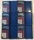 Lot Of 6 Texas Instruments TI-108 Blue Basic Calculators All Working Elementary