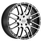 Petrol P6A 17x7.5 +32 Gloss Black w/Machine Cut Face Wheel Rim 5x112 (QTY 4)