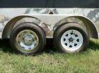 "(4) 15"" 6 Lug 2pc Chromed Trailer Wheel Hub Cap Rim Covers, Dress it up!!!"